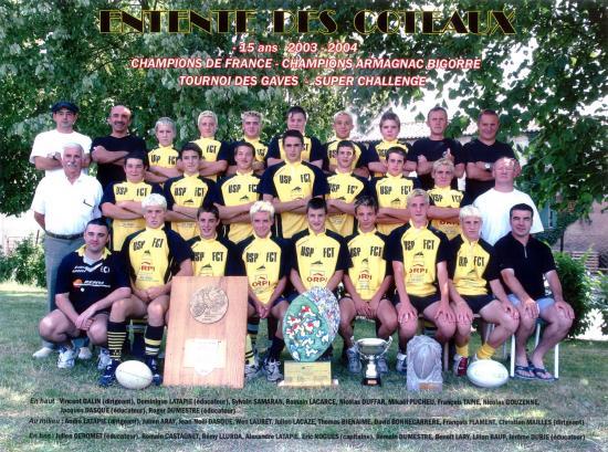 15ans champions 2003