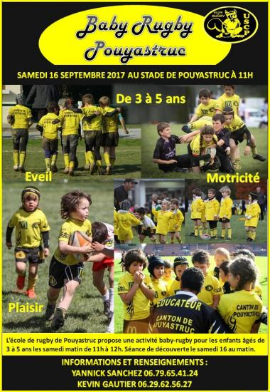 Affiche baby rugby 2017