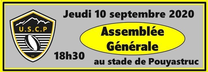 ASSEMBLEE GENERALE LE 10 SEPTEMBRE 2020 18h30