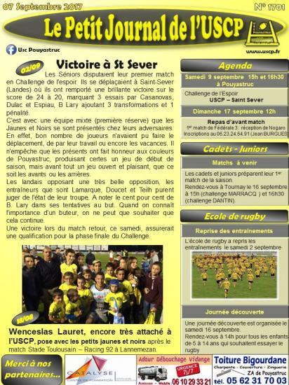 Petit journal uscp n 1701 2017 09 07