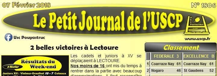 PETIT JOURNAL du 07/02/2018